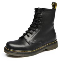 Wholesale british army boots resale online - 2019 Ladies Boots Leather Shoes British Wind Outdoor Winter High Help Motorcycle Boots Casual Autumn Leather Wear Non slip Shoes