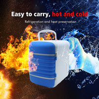 Wholesale 12v fridge portable coolers resale online - 4L Mini Portable Refrigerator in Cool Box Heated Lunchbox v Fridge for Auto Home Office Camping Bag Refrigerator for Car