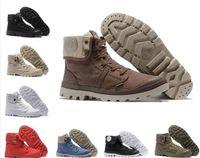 Vendita calda scarpe firmate PALLADIUM Pallabrouse Uomo High top Esercito militare Stivaletti Canvas Sneakers Scarpe casual Uomo Anti Slip scarpe