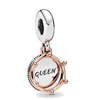 Wholesale 925 sterling silver crown charms resale online - Original Sterling Silver Bead Charm Queen Rose Crown Dangle Charm Fit Bracelets Necklace Women Diy Jewelry