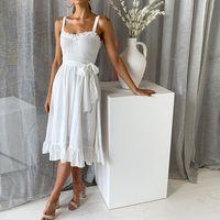ingrosso cinghie versatili-Primavera e l'estate Moda versatile cinghie arruffato Lace-up vestito femminile Moda femminile popolare Trend Style Alta qualità buona jooyoo