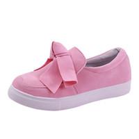 zapatos planos cerrados para mujeres al por mayor-Zapatillas planas de arco para mujer adispulentas Zapatillas de lona con cierre cómodo y cómodo Zapatillas de deporte, Zapatos perezosos, Zapatos con una pierna