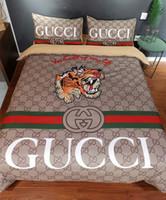 Wholesale sheets beds resale online - Branded Baby Adult Home Bedding Sets Designer Women Men Letter Printing Cotton set Duvet Cover Set Bed Sheet Duvet Cover Pillowcase