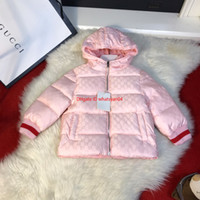 casaco de design para baixo venda por atacado-NewCrianças para baixo jaqueta crianças roupas de grife outono e inverno meninos e meninas congelados casacos dois lados pode usar design com capuz
