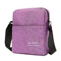multifunktionsleder umhängetasche großhandel-Classic Messenger Bag Fashion Nylon Leder Solid Color große Kapazitäts-im Freientelefon Multifunktions männlich Umhängetasche