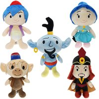 Wholesale toys resale online - 5 Style cm inch Aladdin and the Magic Lamp collecition plush toys New Aladdin Jasmine Princess stuffed plush soft kids toys