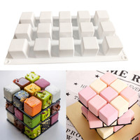 Wholesale eco chocolate mould resale online - Silicone Cake Mold Holes Square Shaped Cake Decorating Tools Chocolate Mould Kitchen Baking Tool Dessert Accessories