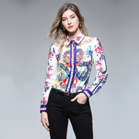 col parfait achat en gros de-Chemise à manches longues à col droit et à manches longues pour femmes de style classique de luxe