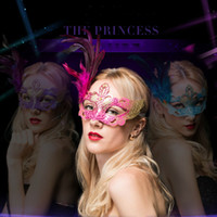 Wholesale pink feather mask resale online - Halloween Cosplay Party Eye Mask Masquerade Feather Mask Women Halloween Accessories