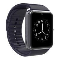 смотреть бесплатно телефон dhl оптовых-Новые смарт-часы GT08 для мобильного телефона Andriod Bluetooth-часы с SIM-картой Watch для IOS носимых устройств телефона Бесплатная доставка DHL