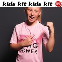 niños pantalones cortos de color rosa al por mayor-2020 Kids kit City camisetas de fútbol rosa 19/20 Traje infantil # 9 VARDY # 10 MADDISON Camisetas de fútbol niños uniformes de fútbol camisa + pantalones cortos