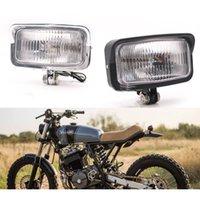 Faro de la Moto Cl/ásico Cromo Personalizado para Bobber Chopper Motocicleta Cafe Racer 12V 35W