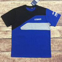homens da motocicleta camisetas venda por atacado-Atacado MOTO GP Fãs Da Motocicleta Dos Homens T Top para YAMAHA Paddock motocross Azul Corrida Polo Camisa de Corrida Roupas T-shirt