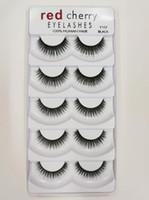 j grande venda por atacado-Cereja Vermelho Cílios Postiços 5 pares / pacote 8 Estilos 3D Mink Cílios A11 Cílios Naturais Longo Profissional Maquiagem Olhos Grandes