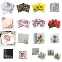 салфетки оптовых-20шт / пакет Bloosm Rose Цветочные Flower Theme Бумажные салфетки ткани Салфетки Декупаж украшения Праздничный вечеринок