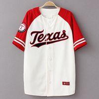 ingrosso camicie di baseball-Estate Hip Hop Fashion Maglie da baseball T shirt stile coreano Patchwork allentato unisex KANYE WEST casual tee manica corta lunga