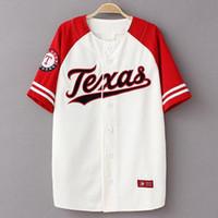 baseball-stil hemden großhandel-Sommer Hip Hop Fashion Baseball Trikots T-Shirt koreanischen Stil lose Unisex-Patchwork KANYE WEST beiläufige lange Kurzarm-T-Shirt