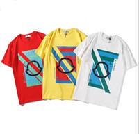 ingrosso magliette casual per gli uomini-2019 Estate Magliette per uomo Magliette di marca con lettere Moda Mens traspirante Streetwear Magliette casual Tee Shirts 3 Colori Taglia S-2XL