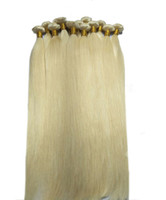 Wholesale russian hair extension wefts resale online - Hot sale g Hair Weaves Double Wefts g pc Russian Blonde human hair Color Can be Dyed Human Hair Extension