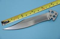 ingrosso coltello caldo di titanio-Alta qualità La maniglia hombia lama di luce specchio uno in titanio oscillazione libera della lama di campeggio accessori può essere venduto caldo di vendita