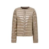 2019 neue ultraleichte Frauen Daunenjacke Winter Rundhals Protable Jacken Duck Coat