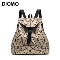 Wholesale triangle backpack for sale - Group buy DIOMO Irregular Geometric Triangle Sequin Backpack Women Bagpack Fashion Female Backpacks for Girls rugzak back pack