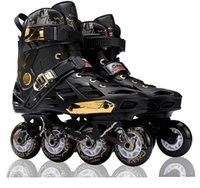 tekerlekli paten ayakkabıları toptan satış-Inline Profesyonel Yetişkin Slalom Sürgülü Flaş Buz Paten Ayakkabı Ayarlanabilir Yıkanabilir 85A Flaş PU Tekerlekler Külot Adulto Kadınlar