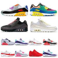 sapatos de corrida venda por atacado-air max 90 2019 hot running shoes para homens Universidade Infravermelho Vermelho Sul Praia Uva Internacional triplo branco preto sports sneaker trainer tamanho 36-45