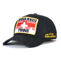 Wholesale american style baseball caps resale online - Letter Embroidered Hat European and American style Cotton baseball cap DSQICOND2 male and female Sports Outdoors Snapbacks Cap