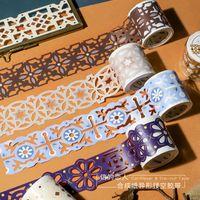 el sanatları çıkartmaları toptan satış-Mohamm Kız Hollow Washi Bant Kırtasiye Maskeleme bandı Scrapbooking Papar Zanaat Dekoratif Yapışkan Çıkartmalar 2016