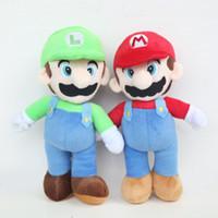 luigi mario bros venda por atacado-2019 Super Mario Bros Brinquedo de pelúcia Mario E Luigi Bichos de pelúcia mais brinquedos para presentes 9