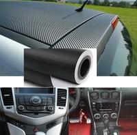cerdo de vinilo al por mayor-127cmx30cm DIY 3D de fibra de carbono Wrap rollo etiqueta de hoja de coches Auto Vehi del coche del vinilo de la etiqueta engomada del abrigo del coche de rollos de película decorativa
