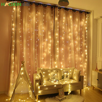 Wholesale fruit tree home garden resale online - Haoxin x3 x3M Curtain LED Icicle String Light Christmas Fairy LED Garland Outdoor Lights For Home Wedding Party Garden Decoration