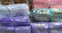 свадебные сумки из органзы оптовых-100 шт. 7x9 см цветок китайское рождество / свадьба вуаля подарочная сумка из органзы сумки ювелирные изделия упаковка подарочная сумка