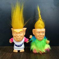 ingrosso nuovi modelli vestono i capretti-2020 Donald John Trump Doll Presidente USA Donald John Trump Figure Dressed Model Dolls Bambini Bambini Mano Gioca Divertenti Giocattoli Natale Nuovo