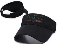 kadınlar için plaj siperlikleri toptan satış-Açık erkekler kadınlar Visor Güneş Şapka erkek tasarımcı Güneş Kremi Spor Tenis Kap Moda Lady Seyahat Plaj Boş Üst Şapka kemik gorras kap casquette