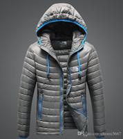 теплые походные куртки оптовых-Марка высокое качество зима мужчины вниз толстовки север куртки отдых ветрозащитный лыжный теплый вниз пальто открытый повседневная с капюшоном спортивная куртка лица