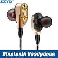 Wholesale ip headphones resale online - ZZYD M18 Bluetooth Headphones V4 Wireless Bluetooth Earbuds headset for iP X Xs max Earphones with retail package