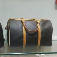 велюровая обивка оптовых-Высокое качество классического коричневого цвета 7A REGATTA KEEPALL VOYAGER Мужская дорожная сумка из натуральной оксидированной кожи на выходные сумки на ремне Большие сумки для багажа