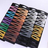 kafa bandı paketleri toptan satış-10 Adet / paket Kadınlar için Gökkuşağı Yapış Saç Klipler BB Tokalar Tokalarım Bantlar Hairgrips Basit Saç Klip Şekillendirici Aksesuarları