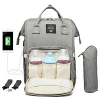 Wholesale good diapers for sale - Group buy designer backpack Maternity Waterproof Diaper Bag Usb Charging Large Mummy Nursing Backpacks Drop Shipping good quality