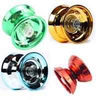 truques de yoyo 1a venda por atacado-Hot Metal Yoyo bola Crianças Brinquedos de Metal yoyo rolamento de esferas Yo-Yo Bola Engraçado yoyo Truque de Corda Profissional brinquedos educativos