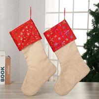 сумки повесить стены оптовых-Рождественские конфеты чулок подарок мешок рождественские елки украшения носки висячие на стене рождественские украшения 4styles RRA2054