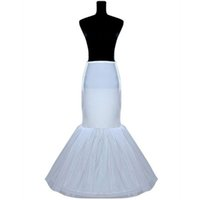 slip para vestido venda por atacado-Yanstar Nupcial Anágua Underskirt Mermaid Casamento Petticoat Underskirt Branco Crinolina Deslizamentos Para Vestido De Noiva