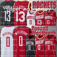 james rápidos venda por atacado-Rockets Russell Camisolas Westbrook James 13 Harden Camisolas Damian 0 Lillard Jersey C.J. 3 McCollum Camisola Portland Houston Transporte Rápido