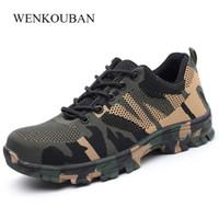 segurança industrial venda por atacado-Novos Sapatos de Segurança Homens Sapatos De Aço Ao Ar Livre Sapatos De Segurança Do Trabalho Ao Ar Livre Homens Industrial Construção À Prova de Punção Botas