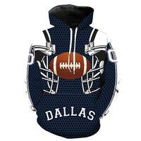 poches de chapeaux achat en gros de-Mode homme 3D Hoodies nouvelle équipe Imprimé Chapeau de poche veste à manches longues hommes à capuche Sweat M-6XL