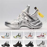 kadınlar için serin rahat ayakkabılar toptan satış-2019 archlight sneakers Lüks Tasarımcı Erkek Kadın Rahat Spor Ayakkabı Serin Gümüş Üçlü Siyah Oreo Hakiki Deri Baba Ayakkabı Boyutu 35-44