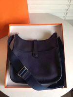 h tasarımcı çantası toptan satış-Kadın Bayanlar Debriyaj Çantalar Klasik Evelyn Dana Derisi H Togo Hakiki Deri En Kaliteli Tasarımcı Çanta Messenger Omuz Çantaları Oymak