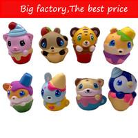 juguetes de espuma de estrés al por mayor-Nuevos animales Squishy Slow Rising Foamed Animal Squeeze Toys Soft Adorable Squishies PU Stress Relief Child Toy